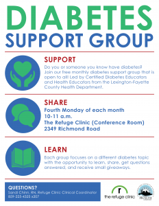 Diabetes Support Group-The Refuge Clinic @ The Refuge Clinic | Lexington | Kentucky | United States
