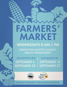 Farmers' Market @ Lexington-Fayette County Health Department | Lexington | Kentucky | United States