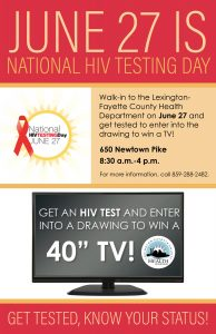 National HIV Testing Day @ Lexington-Fayette County Health Department | Lexington | Kentucky | United States