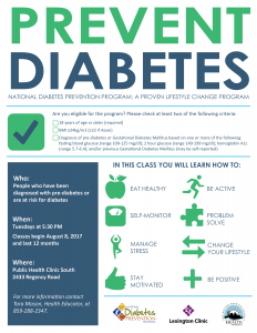 Diabetes Prevention Program @ Lexington-Fayette County Health Department South | Lexington | Kentucky | United States