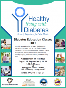 Healthy Living with Diabetes @ Lexington Senior Center | Lexington | Kentucky | United States