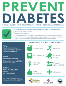Prevent Diabetes @ Tates Creek High School | Lexington | Kentucky | United States