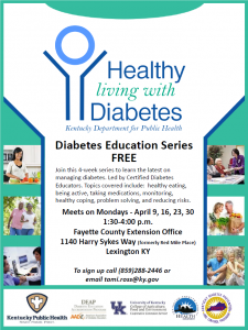 Healthy Living with Diabetes @ Fayette County Extension Office | Lexington | Kentucky | United States