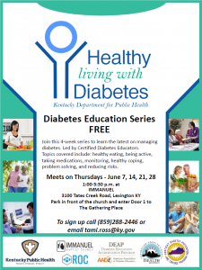 Healthy Living with Diabetes @ Immanuel Baptist Church | Lexington | Kentucky | United States