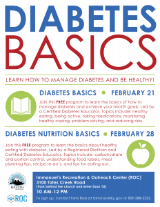 Diabetes Basics @ Immanuel Baptist Church | Lexington | Kentucky | United States