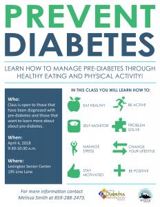 Prevent Diabetes @ Lexington Senior Center | Lexington | Kentucky | United States