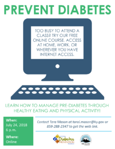Online Diabetes Prevention Class