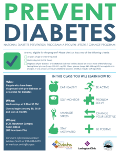 Diabetes Prevention Series @ BCTC Newtown Campus | Lexington | Kentucky | United States