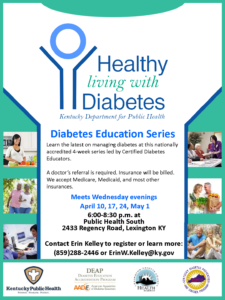 Healthy Living with Diabetes @ Public Health South | Lexington | Kentucky | United States