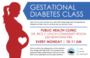 Gestational Diabetes Class @ Lexington-Fayette County Health Department | Lexington | Kentucky | United States